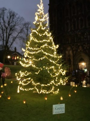 Lichfield Cathedral Christmas Tree